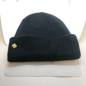 NWOT Anne Klein Rib-Knit Cuff Beanie Hat Black